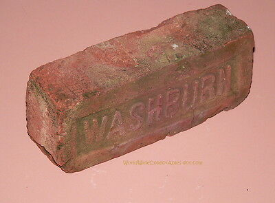 "19th century WASHBURN CLAY ""Orphan"" BRICK Glasco NY Hudson River Valley"