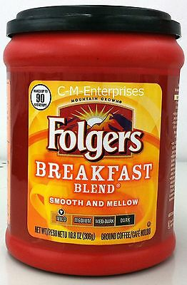 Folgers Breakfast Blend Ground Coffee 10.8 oz can