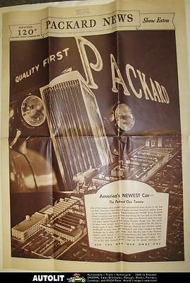 1935 Packard 120 Large Brochure Poster wt4442