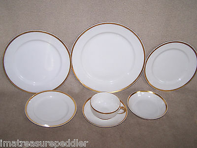 Haviland GDA Limoges White with Gold 7 piece Place Setting - multiples available