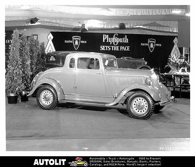 1933 Plymouth Coupe Factory Photo uc1067-3Y9KR1