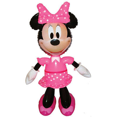 Minnie Mouse Inflatable Toy | Blow up Beach Garden Pool Fun Kids Figure 42cm