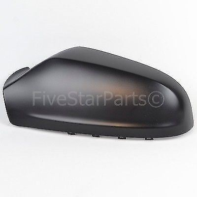 Left PASSENGER SIDE WING DOOR BLACK MIRROR COVER FOR VAUXHALL ASTRA H 2004-2008