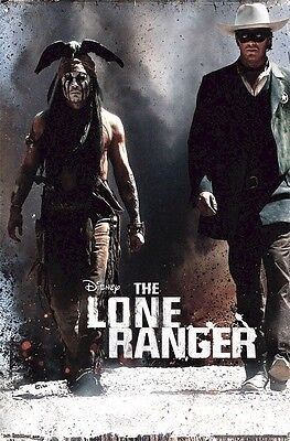 THE LONE RANGER MOVIE POSTER ~ SIDE BY SIDE 22x34 Johnny Depp Armie Hammer