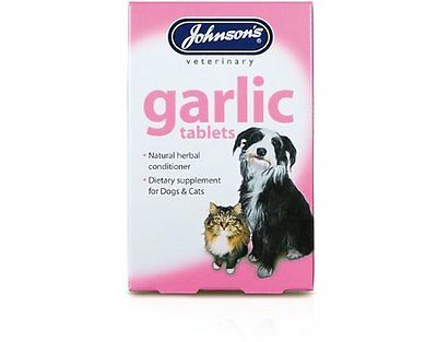 Johnsons garlic tablets for pets. 40 tablets per pack,Natural flea repellent