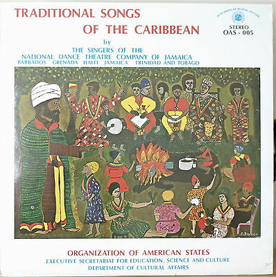 Traditional Songs Of The Caribbean-Sealed1979Lp Organization Of American States