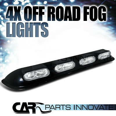 4x4 OFF-ROAD SUV ROOF TOP DRIVING LIGHTS CLEAR LAMP+H3 BULBS+SWITCH