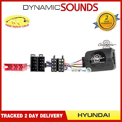 DS-HY004 Steering Stalk Control Adaptor + FREE Patch Lead For HYUNDAI i20 2009>