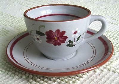 1959 Hand Painted Stangl Pottery Garland Cup and Saucer Set