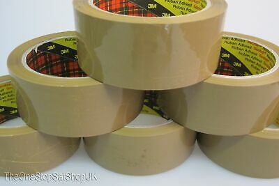 Brown Buff Packing Packaging Tape Scotch 3M 6 Rolls 66m