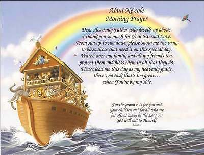 Personalized Prayer for Child Noah's Ark New Baby, Shower, Nursery Decor