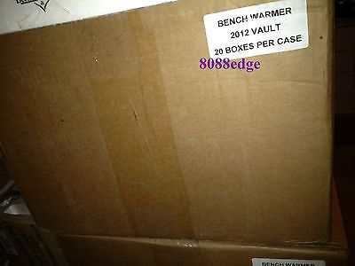 2012 Benchwarmer Vault Factory Sealed 20 Box Case: 7+ Hits Per Box=140 Or More !