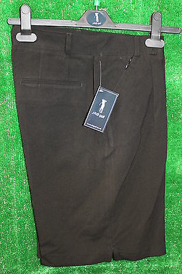 JRB Classic Knee Length Tailored Golf/Walking Shorts Black 8,10,12,14,16,18,20