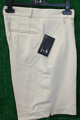 JRB Classic Knee Length Tailored Golf/Walking Shorts Rich Cream 8,12,14,16,18