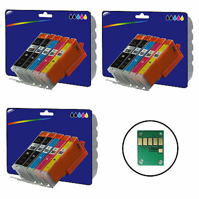 3 Sets Compatible Printer Ink Cartridges for Canon Pixma iP7250 Printer [550/1]