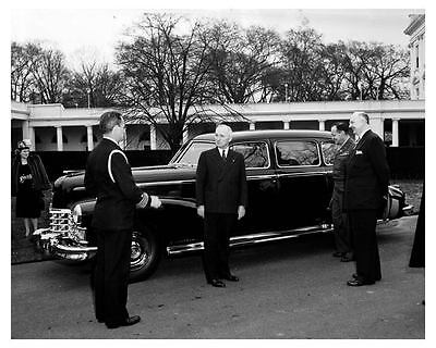 1947 Cadillac Fleetwood 75 Limousine Factory Photo President Harry Truman uc2228