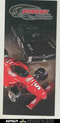 2004 Penske Racing Museum Brochure Formula 1 Cosworth Ford Indy 500 March mx7019