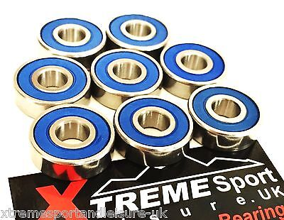 *8 Pack 627 RS [7mm] XTREME™ CLASSIC SEALED BEARINGS ROLLER SKATE INLINE QUAD