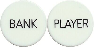 SET OF PLAYER AND BANK BUTTONS 2 Buttons For BACCARAT Casino GAME Free Ship *