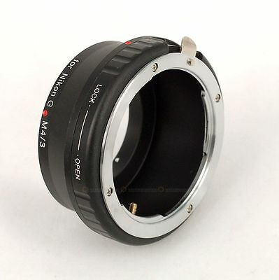 Nikon AI AF-S G Lens to M4/3 Micro 4/3 Adapter Ring For Panasonic Olympus Camera