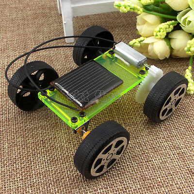 Electric Solar Toy Car Model DIY Kits Educational Gadget Hobby Robotic School