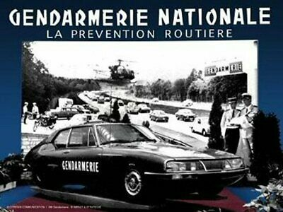 PLAQUE METAL 40X30cm CITROEN SM GENDARMERIE NATIONALE