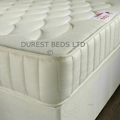 """Sprung Quilted Pocket Sprung Mattress3Ft Single 4Ft6 Double 5Ft King Size 10"""""""