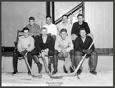 "1910 PRINCETON HOCKEY TEAM PHOTO,14""x11"" print,vintage,antique UNIVERSITY sports"