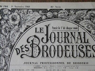 Le Journal Des Brodeuses Magazines for Monograms 1960's