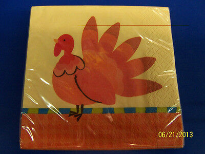 "Thanksgiving Bastin Turkey Fall Autumn Holiday Party 7/"" Paper Dessert Plates"
