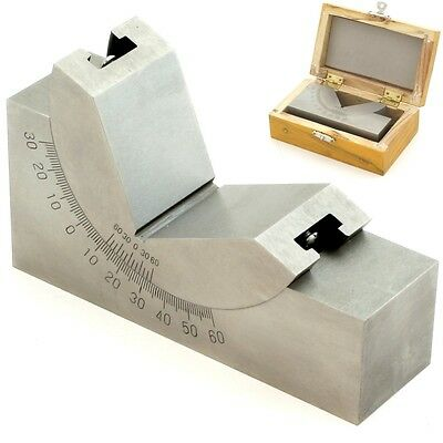"4"" x 1-3/16 Precision ANGLE BLOCK Adjustable Toolmaker Gauge 0-60° Degree"