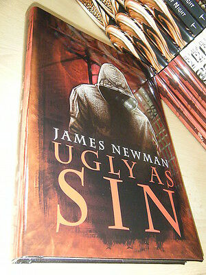 James Newman UGLY AS SIN 1st/HB SGN/LTD MINT Thundersotrm Books Black Voltage