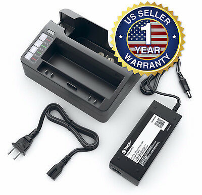 External Battery Charger for Irobot Roomba 400, 500, 600, 700 Series Cradle