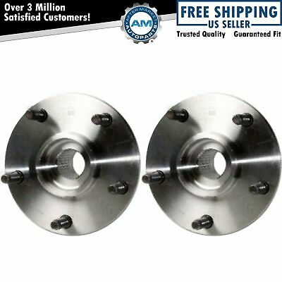 Front Wheel Hubs & Bearings Pair Set of 2 NEW for 94-99 Dodge Ram 1500 4WD 4x4