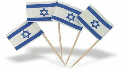 Lot of 144 pc. Israel Flag toothpicks - Judaica Party Favors FREE SHIP