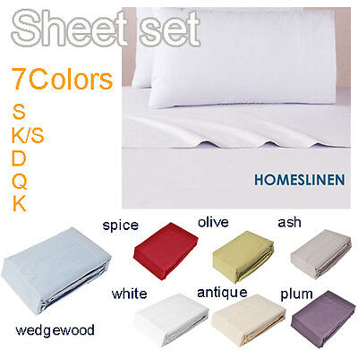 4 Pieces 1000 Fine Brushed Microfiber Sheet Set Bedding Queen/King/Double