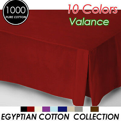 1000TC Egyptian Cotton High Quality Valance Queen Size-Red