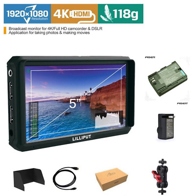 "LILLIPUT 5"" 569H 569GL-50NP/H/Y HDMI IN FIELD Monitor+YPbPr AV Input FOR DSLR"