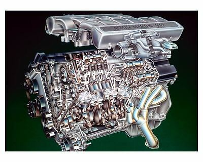 2000 Aston Martin V12 6.0 Litres Engine Photo Poster zuc3522-TBKFWA