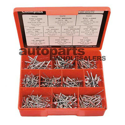 CHAMPION BLIND ALUMINIUM RIVETS ASSORTMENT KIT (505 Pieces)