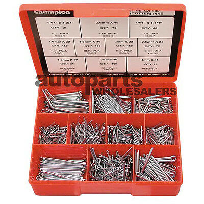 CHAMPION SPLIT PINS COTTER PINS ASSORTMENT KIT  (795 Pieces)