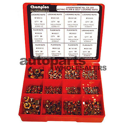 CHAMPION KIT SELF-LOCKING & STANDARD METRIC NUTS  ASSORTMENT (320 Pieces)