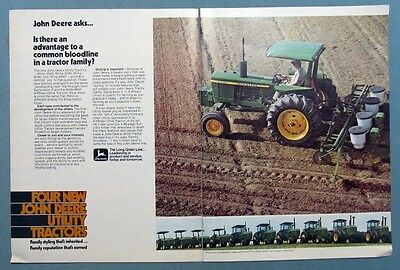 1976 John Deere Model 2440 Tractor Ad COMMON BLOODLINE IN A TRACTOR FAMILY