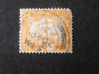 HONG KONG, SCOTT # J4, 6c. VALUE 1923 POSTAGE DUE ISSUE USED