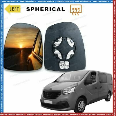 Left Passenger side Convex Wing mirror glass for Renault Trafic 2001-14 Heated