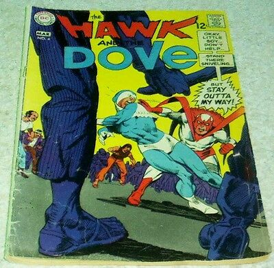 Hawk and Dove 4, VG/FN (5.0) 1969, 50% off Guide!