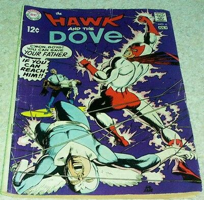 Hawk and Dove 6, VG/FN (5.0) 1969, 50% off Guide!