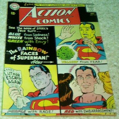Action Comics 317, FN/VF (7.0) 1964 Rainbow Faces of Superman, 50% off Guide!