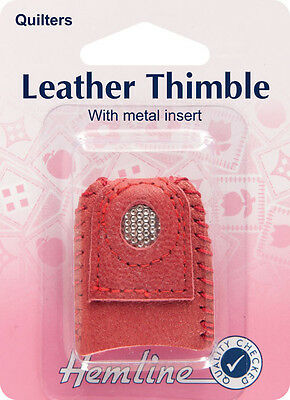 Hemline - Leather Thimble (with Metal Insert)