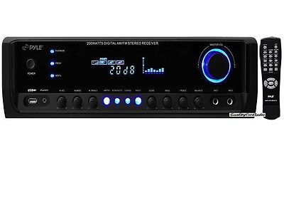 NEW Pyle PT380AU 200W 4 Channel Home Stereo Receiver USB AUX iPod/MP3 & Remote